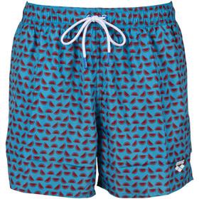 arena Fundmentals Allover Shorts Men, azul/rojo